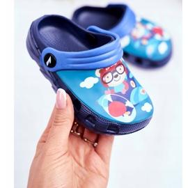 Papuci pentru copii Foam Crocs Blue Pilot Teddy Bear Pilot SuperFly 2