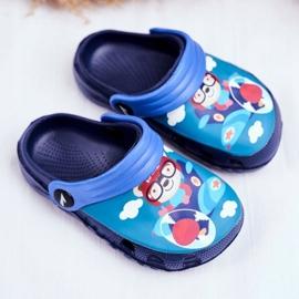 Papuci pentru copii Foam Crocs Blue Pilot Teddy Bear Pilot SuperFly 1