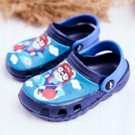 Papuci pentru copii Foam Crocs Blue Pilot Teddy Bear Pilot SuperFly 3