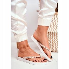 SEA Papuci pentru femei Flip-flops Curea împletită Beeg Peggie maro 1