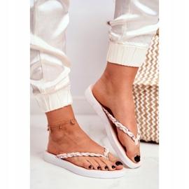 SEA Pantofi pentru femei Flip-Flops Curea împletită roz Peggie 1