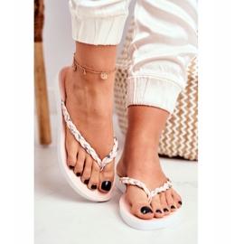 SEA Pantofi pentru femei Flip-Flops Curea împletită roz Peggie 2