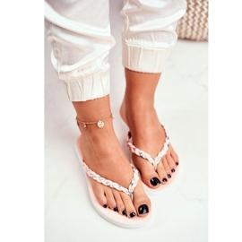 SEA Pantofi pentru femei Flip-Flops Curea împletită roz Peggie 3