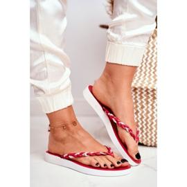 SEA Pantofi pentru femei Flip-Flops Curea împletită Peggie roșie roșu 1