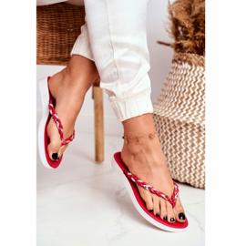 SEA Pantofi pentru femei Flip-Flops Curea împletită Peggie roșie roșu 2