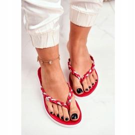 SEA Pantofi pentru femei Flip-Flops Curea împletită Peggie roșie roșu 3
