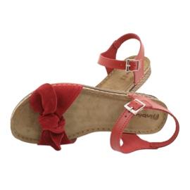 Pantofi pentru femei Comfort Inblu 158D117 roșu 5