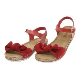 Pantofi pentru femei Comfort Inblu 158D117 roșu 3