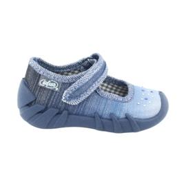Încălțăminte pentru copii Befado cu zirconi 109P186 albastru gri 6