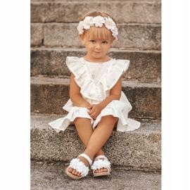 FRROCK Sandale pentru copii cu velcro strălucitor alb Milena 5