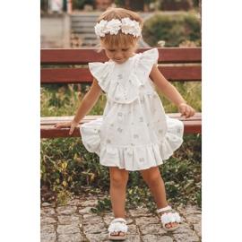FRROCK Sandale pentru copii cu velcro strălucitor alb Milena 6