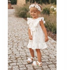FRROCK Sandale pentru copii cu velcro strălucitor alb Milena 7