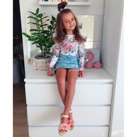 FRROCK Sandale pentru copii cu velcro strălucitor roz Milena 5