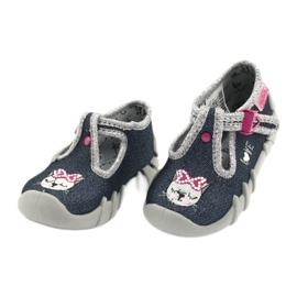 Încălțăminte pentru copii Befado 110P361 albastru marin roz multicolor 3