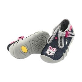 Încălțăminte pentru copii Befado 110P361 albastru marin roz multicolor 4