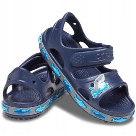 Sandale Crocs pentru copii Crocs Fl Shark Band Sandal B bleumarin 206365 410 albastru marin 2