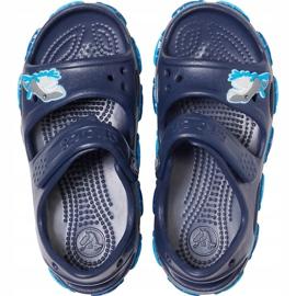 Sandale Crocs pentru copii Crocs Fl Shark Band Sandal B bleumarin 206365 410 albastru marin 1