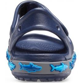 Sandale Crocs pentru copii Crocs Fl Shark Band Sandal B bleumarin 206365 410 albastru marin 4