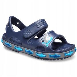 Sandale Crocs pentru copii Crocs Fl Shark Band Sandal B bleumarin 206365 410 albastru marin 3