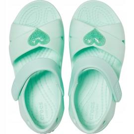 Sandale pentru copii Crocs Sandale Classic Cross Strap Ps neo mint 206245 3TI verde 1