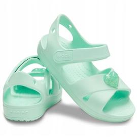 Sandale pentru copii Crocs Sandale Classic Cross Strap Ps neo mint 206245 3TI verde 2