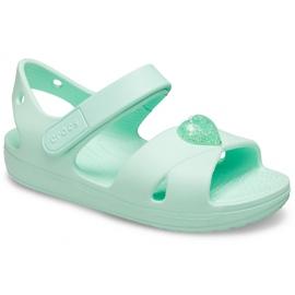 Sandale pentru copii Crocs Sandale Classic Cross Strap Ps neo mint 206245 3TI verde 3