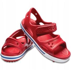 Sandale Crocs pentru copii Crocband Ii Sandal Ps Kids roșu-albastru 14854 6OE 2