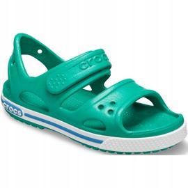 Sandale Crocs pentru copii Crocband Ii Sandal Ps Kids verde-albastru 14854 3TV 3