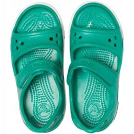Sandale Crocs pentru copii Crocband Ii Sandal Ps Kids verde-albastru 14854 3TV 1