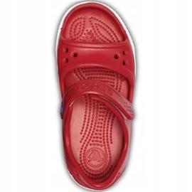 Sandale Crocs pentru copii Crocband Ii Sandal Ps Kids roșu-albastru 14854 6OE 1