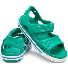 Sandale Crocs pentru copii Crocband Ii Sandal Ps Kids verde-albastru 14854 3TV 2