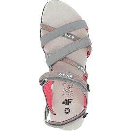 Sandale fete 4F multicolor HJL20 JSAD001 90S portocale roz gri 1