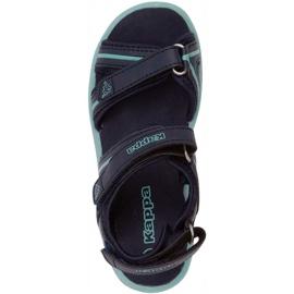 Sandale pentru copii Kappa Breezy Ii K încălțăminte copii bleumarin-menta 260679K 6737 albastru marin 1