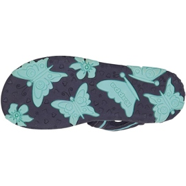 Sandale pentru copii Kappa Breezy Ii K încălțăminte copii bleumarin-menta 260679K 6737 albastru marin 3