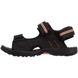 Kappa Symi T Încălțăminte sandale pentru copii negre și portocalii 260685T 1144 negru portocale 2