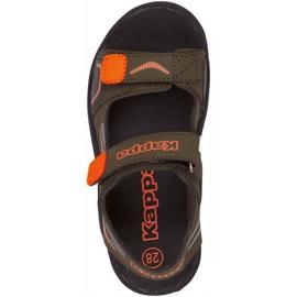 Kappa Pure T încălțăminte sandale pentru copii verzi și portocalii 260594T 3144 verde 1