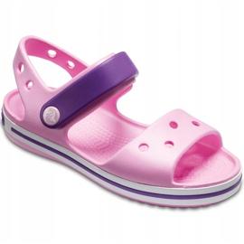 Sandale Crocs pentru copii Sandale Crocband Copii roz deschis-violet 12856 6AI 3