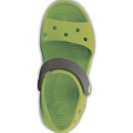 Sandale Crocs pentru copii Sandale Crocband pentru copii verde și gri 12856 3K9 1