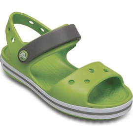 Sandale Crocs pentru copii Sandale Crocband pentru copii verde și gri 12856 3K9 2
