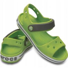 Sandale Crocs pentru copii Sandale Crocband pentru copii verde și gri 12856 3K9 3