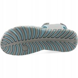 Sandale fete 4F multicolor J4L19 JSAD206 90S albastru gri 2