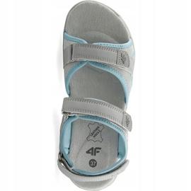 Sandale fete 4F multicolor J4L19 JSAD206 90S albastru gri 1