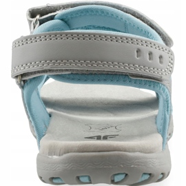 Sandale fete 4F multicolor J4L19 JSAD206 90S albastru gri 3