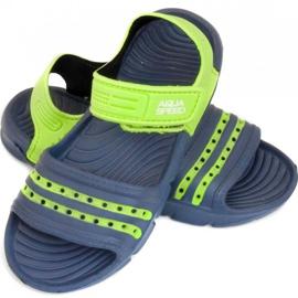 Papuci de piscină Aqua-speed Noli pentru copii, bleumarin și verde col. 48 albastru marin 1