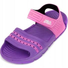Papuci de piscină Aqua-speed Noli pentru copii roz roz col.93 violet 2