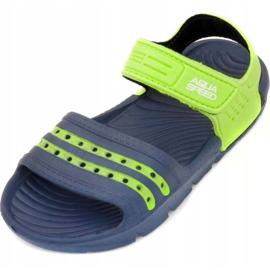 Papuci de piscină Aqua-speed Noli pentru copii, bleumarin și verde col. 48 albastru marin 2