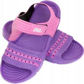 Papuci de piscină Aqua-speed Noli pentru copii roz roz col.93 violet 1