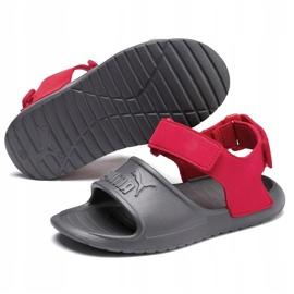 Sandale pentru copii Puma Divecat v2 Injex Ps gri-roșu 369546 05 3