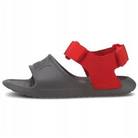 Sandale pentru copii Puma Divecat v2 Injex Ps gri-roșu 369546 05 2