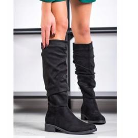 Sweet Shoes Cizme din piele de căprioară negru 2